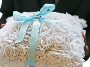 Свадебные подушка для колец своими