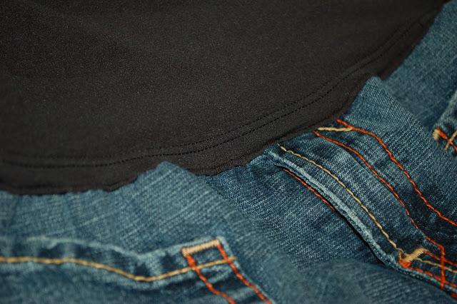 Как сделать из брюк беременные 550