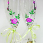 роспись бокалов на свадьбу