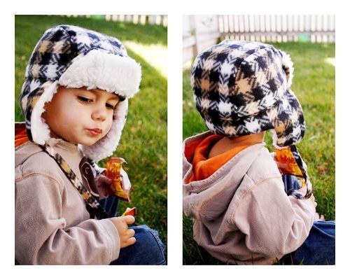 зимняя детская шапочка
