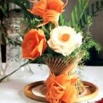 как делать цветы из овощей