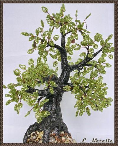 простое дерево из бисера