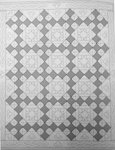схема одеяла