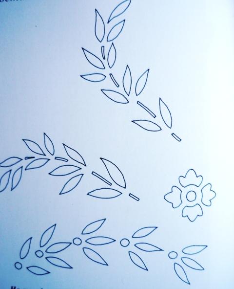 трафарет для росписи стола