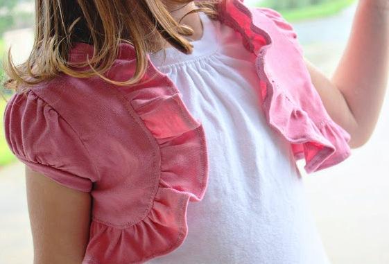 Болеро для девочки из ткани
