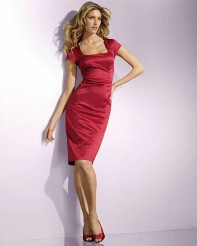 Платье-футляр красное длины мини. Красный в интернет магазине