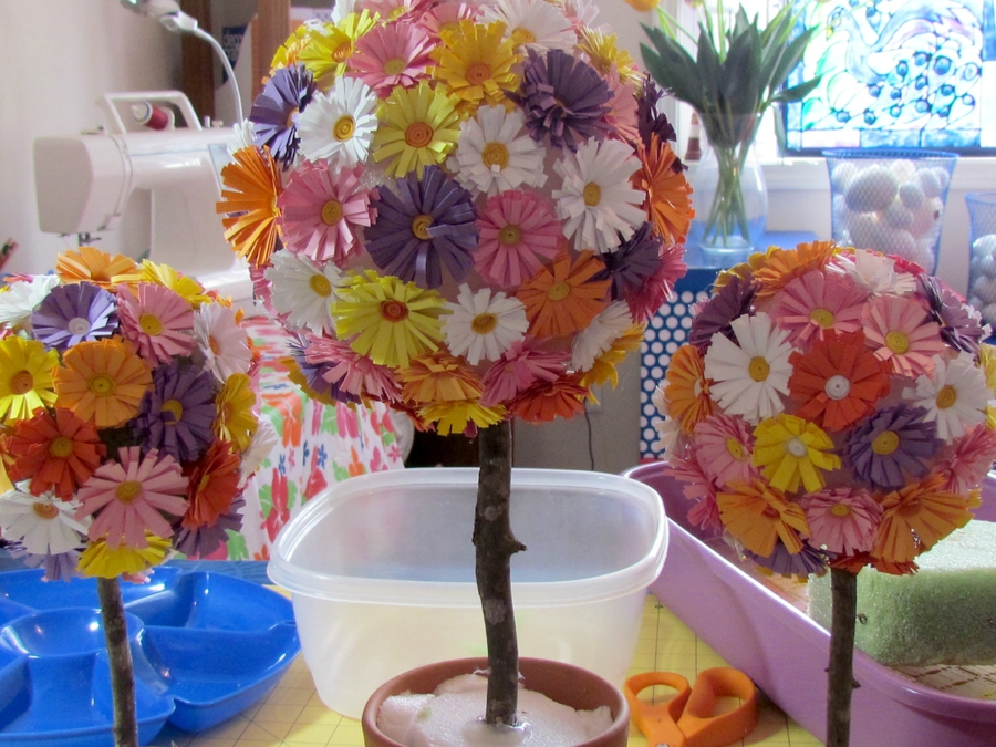 Как сделать шар из цветов своими руками из бумаги