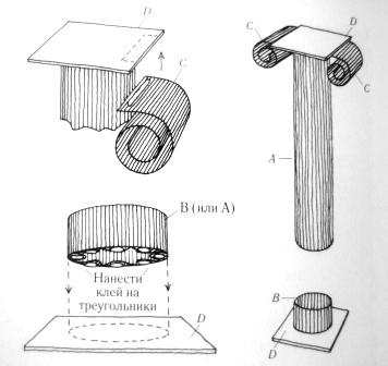 Цилиндр из картона своими руками схема