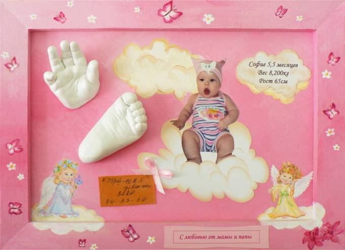 Подарок новорожденной девочке отпечаток 23