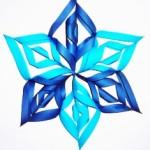 снежинка сделанная из бумаги