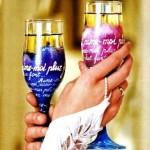 декорирование свадебных бокалов