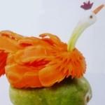 карвинг из моркови - павлин