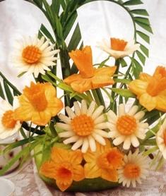 карвинг цветы