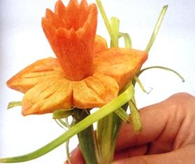 нарциссы из моркови и репы
