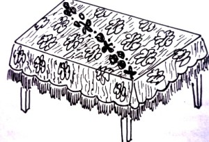 прямоугольная скатерть