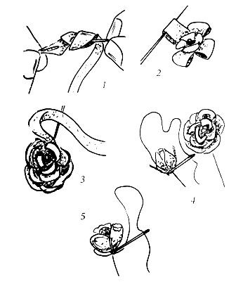 три нижних крупных розы