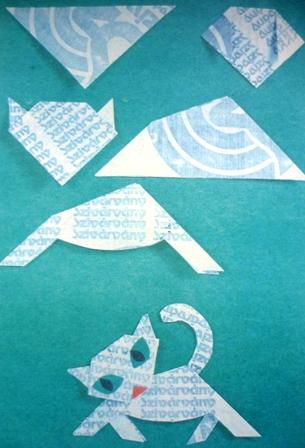 как сделать котенка из бумаги