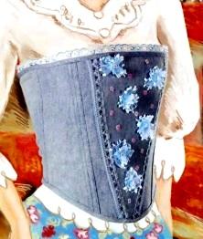 джинсовый корсет