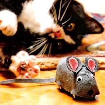 игрушка-мышка для кошки своими руками