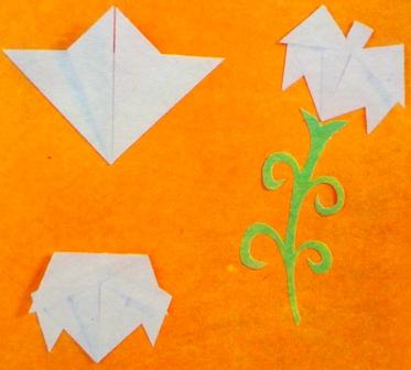 лилии в технике оригами