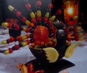 павлин из арбуза
