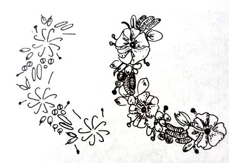 Вышивка лентами подушка схема для вышивания