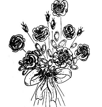 """схема вышивки """"Букет роз"""""""