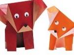 собака из бумаги оригами