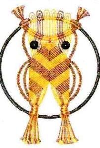 плетение совы макраме