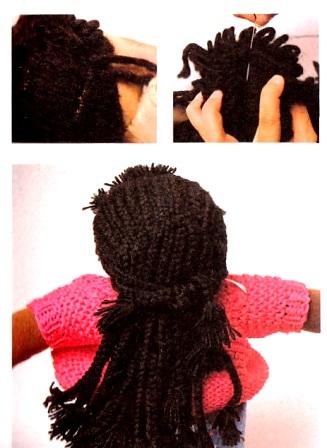 как сделать кукле длинные волосы