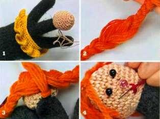 кукла из перчатки