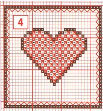 Схема крестиком сердца
